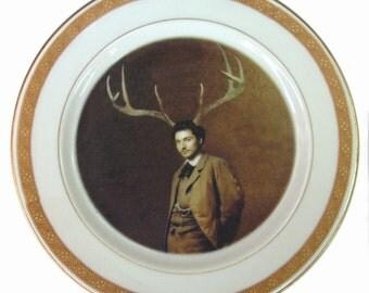 "Mr. Albert Cervidae - Altered Antique Plate 6.4"""