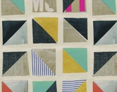 Quilting Fabric Multi Half Square Triangle by Carrie Bloomston Story Collection Windham per Half Yard