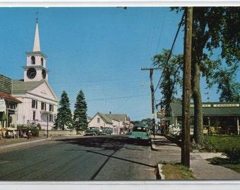 Main Street West Dennis Cape Cod Massachusetts 1950s postcard