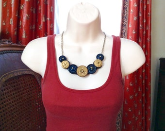 In The Navy button necklace