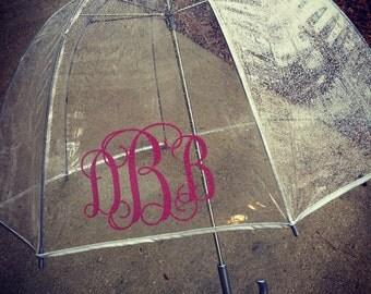 Monogrammed Rain Umbrella