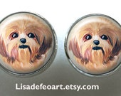 Shih Tzu Post Earrings ~ Birthday Gift ~ Dog Earrings ~ Pet Keepsake ~ February Finds ~ Gifts for Her
