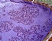 Purple Ceramic Bowl Mehndi henna tattoo boho plum brown earthy rustic zen doodle food bowl salad bowl unique dinnerware handmade