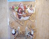 Jolees Boutique Santa and his Reindeer 3D sticker set