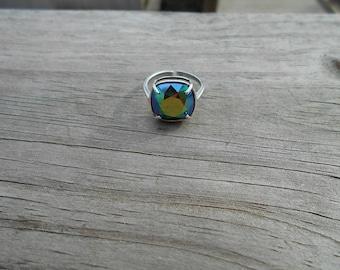 Swarovski Scarabaeus Green Adjustable Ring