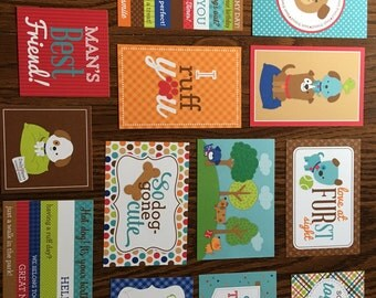 Doodlebug PUPPY LOVE project life cards - set of 14