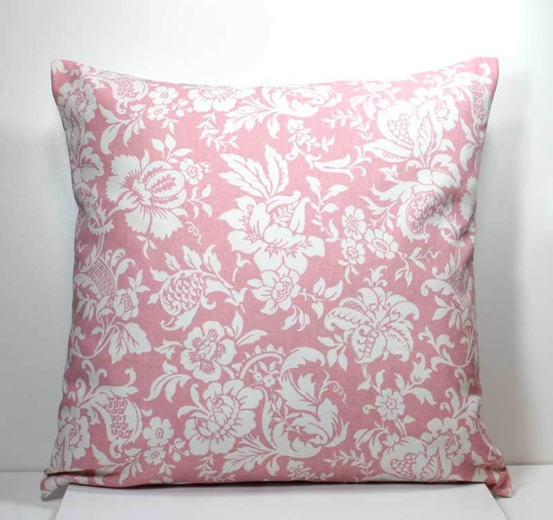 Throw Pillow Covers 18 Inches : 18 x 18 inch Decorative Throw Pillow Cover Off White Flowers