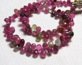 9 inches - AAA- High Quality - Gorgeous Tourmaline - Faceted Tear Drops briolett Multy Colour Nice Clear size - 4 - 8 mm long - 122 pcs