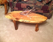 handmade tables,2 end tables and coffee table, Pecan & Walnut  wood .pickup only