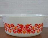 Peace, love and friendship Vintage Friendship Pattern Pyrex Casserole Dish