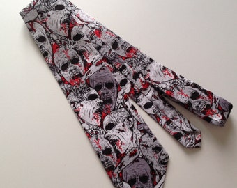 Walking dead zombie inspired  necktie ready to ship