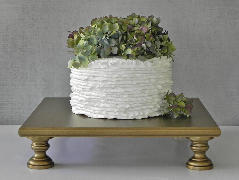 Gold Cake Stand 14 Cupcake Square Vintage Gold Cake