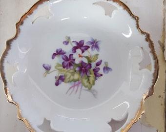 Vintage Napco Violet Wall Plate