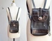 Vintage 1980s BRIGHTON leather backpack