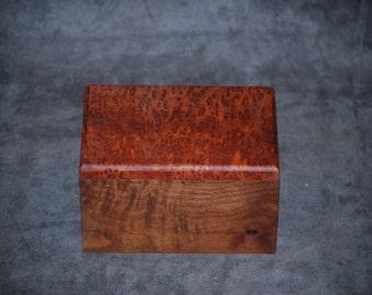 Walnut and Redwood Burl Jewelry Box