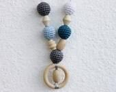 Autumn Grey Sky Nursing Necklace / Teething Necklace