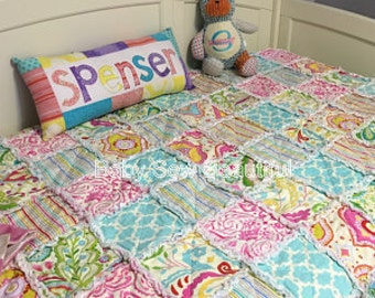Custom Toddler Rag Quilt - You Choose the Fabrics