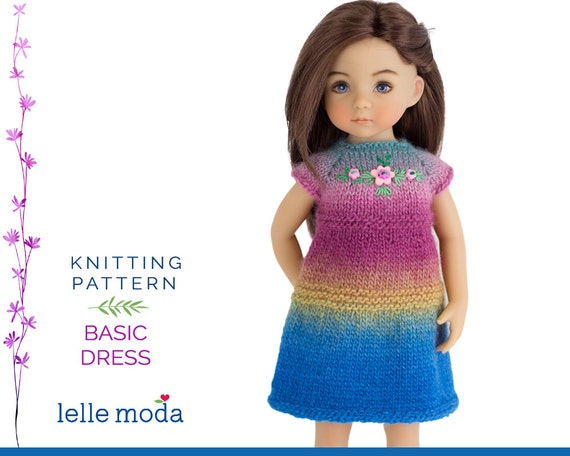 Knitting Pattern 13 Inch Doll : Knitting Pattern for Little Darling Dolls 13 inch by LelleModa