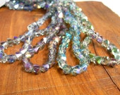 "20"" 8mm Bicone Diamond Ab SIDE DRILLED bicone faceted crystal glass beads - Sahara green , Vitrail Purple , Veridian - Pick Color"