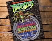 Teenage Mutant Ninja Turtles Birthday Party Invitations