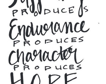 Suffering Produces Hope Art