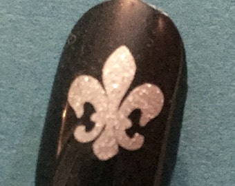 Toe nail / finger nail art Fleur-de-lis decals / stickers / pedicure