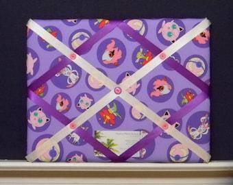 11 x 14 Pokemon Character Purple Memory Board