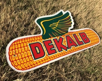 Vintage Collectible DEKALB Corn Seed and Feed Advertising Sign