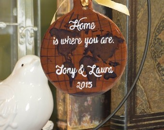 Personalized Old World Globe Ornament