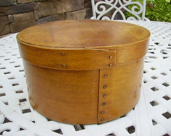 Antique New England Pantry Box Copper Nails/Primitive American Country Pantry Box