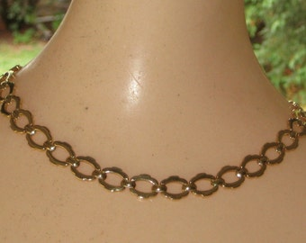Fabulous Chic Classic Heavy Solid 14K Yellow Gold Chain Open Link