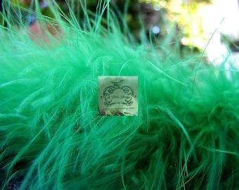 Grass Green Marabou Boa Feathers