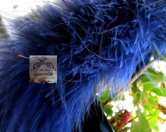 Navy Blue Marabou Boa Feathers