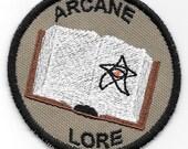Arcane Lore Geek Merit Badge Patch