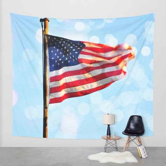 old glory wall tapestry stars and stripes wall hanging. Black Bedroom Furniture Sets. Home Design Ideas
