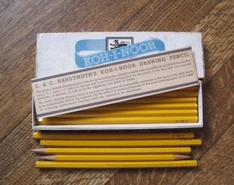 Vintage Koh-I- Noor Graphite Wood Pencils New Old Stock in Original Box