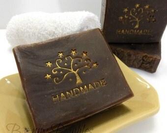 NAG CHAMPA soap - warm, earthy patchouli incense blend aroma - by Bonny Bubbles hp