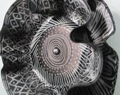 Repuposed Handpainted Vinyl Record Mandala Wall Art /Flower