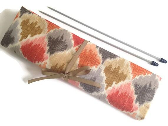 Knitting Needle Storage Roll : Needle case knitting organizer pocket roll up