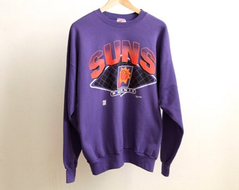 PHOENIX SUNS basketball 90s NBA sweatshirt vintage purple steve nash charles barkley sweatshirt