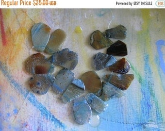 20% OFF ON SALE Blue Butterfly Agate 29mmx19mm Beads, 17 pcs, Gemstone Beads