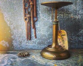 Coffee Scale/ Country Store Brass Coffee Scale / D. E. Brown/ Circa 1878