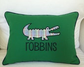 Solid Twill Alligator Pillow
