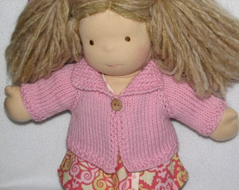 Doll Sweater in Light Pink Wool for 15 inch doll RTG