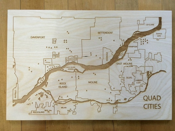 Decorating Ideas > Quad Cities Engraved Wood Map Birthday Christmas By  ~ 180119_Birthday Party Ideas Quad Cities