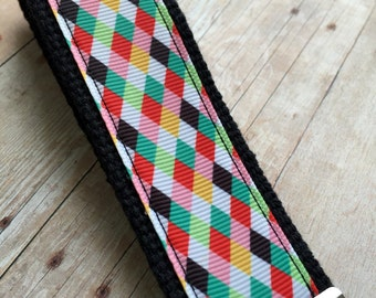 Ribbon Keychain Fob -- Jester Check