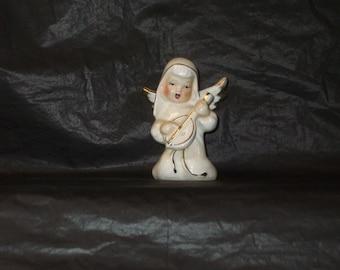 Vintage Japan Christmas GORGEOUS Musician Angel Figurine