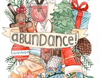 SALE 50% off: Christmas Abundance Card Box Set