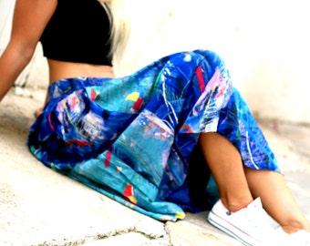 Retro Chic Accordion Skirt. 80s.