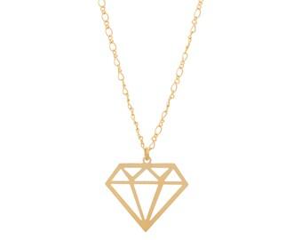Diamond necklace, urban necklace, fashion jewelry